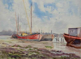 Pin Mill Red Barges